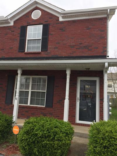 Rutherford County Condo/Townhouse Under Contract - Showing: 961 Ruch Lane #961