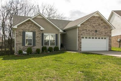 Clarksville Single Family Home Under Contract - Showing: 1895 Camelot Dr