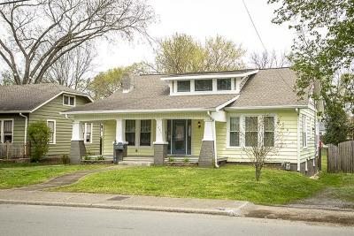 East Nashville Single Family Home Under Contract - Showing: 1411 Greenwood Ave