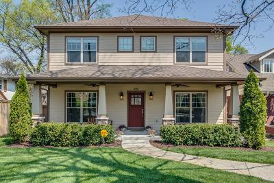 Nashville Single Family Home Under Contract - Showing: 1012 Acklen Ave