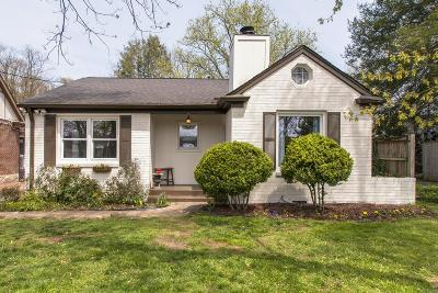 Davidson County Single Family Home Under Contract - Showing: 176 Woodmont Blvd