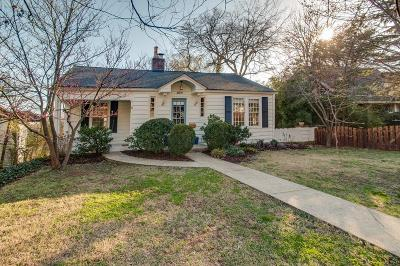 Nashville Single Family Home For Sale: 2809 Blair Blvd