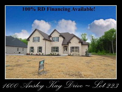 Single Family Home For Sale: 1600 Ansley Kay Drive - Lot 223