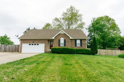 Clarksville TN Single Family Home For Sale: $176,500