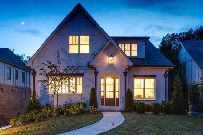 Nashville TN Single Family Home For Sale: $2,195,000
