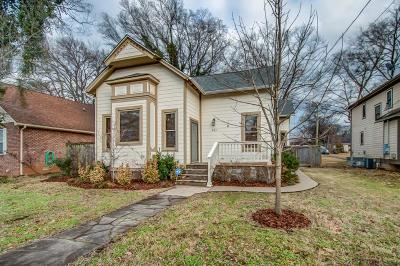 Nashville Single Family Home For Sale: 921 Lischey Ave