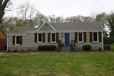 Nashville Single Family Home Under Contract - Showing: 1112 Richmond Dr