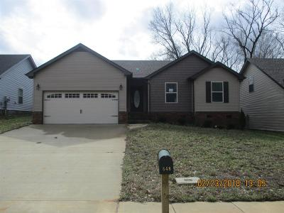 Clarksville Single Family Home For Sale: 848 Shelton Circle