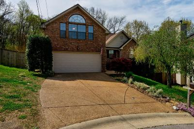 Nashville Single Family Home Under Contract - Not Showing: 1212 Holt Hills Ct