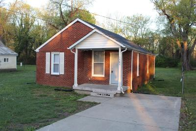 Robertson County Single Family Home Under Contract - Showing: 1505 Cheatham St