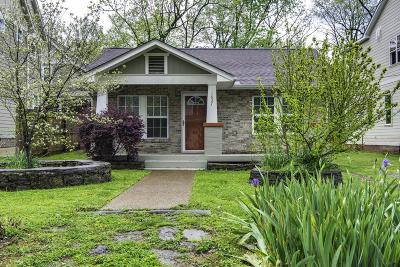 Nashville Single Family Home Under Contract - Showing: 1627 Chase St