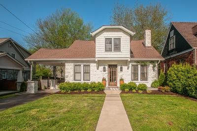 Nashville Single Family Home For Sale: 119 39th Ave