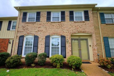 Davidson County Condo/Townhouse For Sale: 1015 Todd Preis Drive