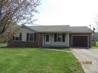 Clarksville TN Single Family Home For Sale: $101,000