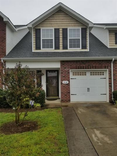 Smyrna Condo/Townhouse Under Contract - Not Showing: 214 Latimer Drive