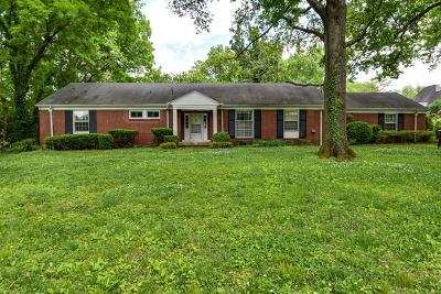Belle Meade Single Family Home For Sale: 1108 Nichol Lane