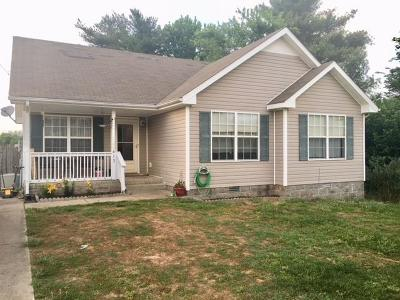Clarksville Single Family Home Under Contract - Showing: 413 Caney Ln