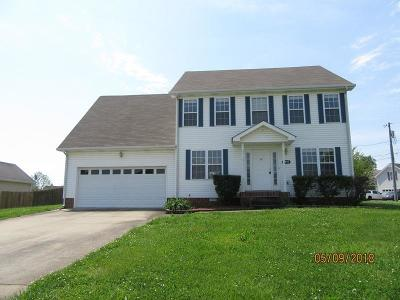 Clarksville TN Single Family Home Under Contract - Showing: $160,000