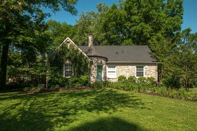 Green Hills Single Family Home Under Contract - Showing: 3511 Woodmont Ln