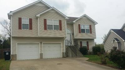 Clarksville TN Single Family Home Under Contract - Showing: $142,750
