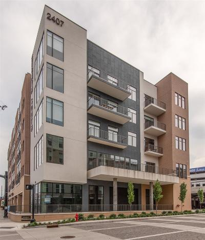 Nashville Condo/Townhouse Active - Showing: 2407 8th Ave S #511
