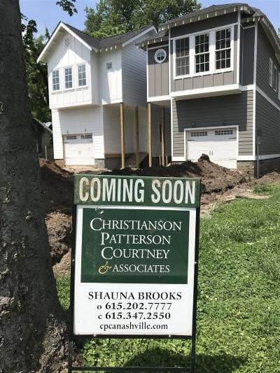 East Nashville Single Family Home Active - Showing: 905 A Cahal Ave