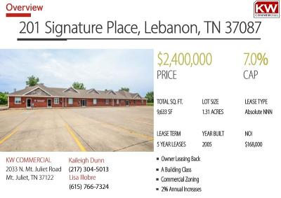Lebanon Commercial For Sale: 201 Signature Pl