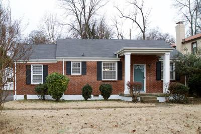 Nashville Single Family Home Under Contract - Not Showing: 3625 Valley Vista Rd