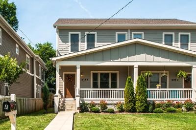 Nashville Single Family Home Active - Showing: 1619 A 9th Ave N