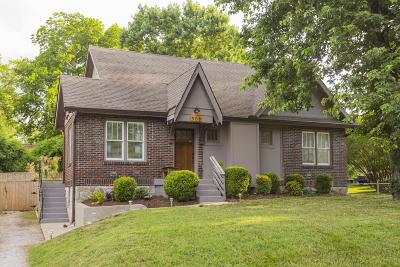 Nashville Single Family Home Under Contract - Showing: 906 Burchwood Ave