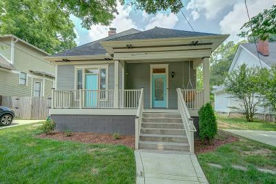 East Nashville Single Family Home Under Contract - Showing: 1035 Sharpe Ave
