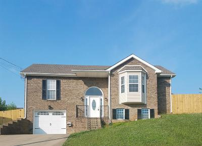 Clarksville TN Single Family Home Under Contract - Not Showing: $188,000