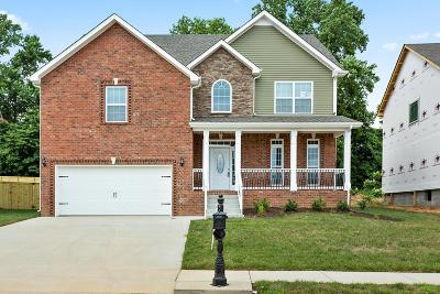 Clarksville TN Single Family Home Under Contract - Not Showing: $274,900