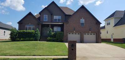 Clarksville Single Family Home Under Contract - Showing: 1508 Green Grove Way