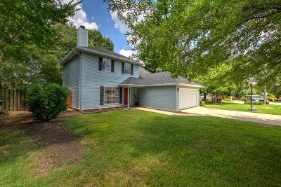 Franklin Single Family Home Under Contract - Not Showing: 605 Hunt Ct