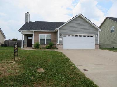 Clarksville TN Single Family Home For Sale: $140,500