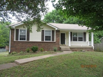Clarksville TN Single Family Home For Sale: $99,500