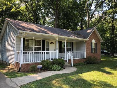 Smyrna, Lascassas Single Family Home Under Contract - Not Showing: 640 Bragg Ave