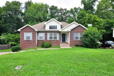 Clarksville TN Single Family Home Under Contract - Not Showing: $187,500