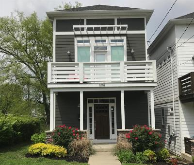 Nashville Single Family Home For Sale: 1014 B W Grove Ave
