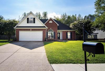 Thompson's Station, Thompsons Station Single Family Home For Sale: 2137 Loudenslager Dr