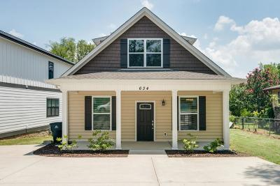 Nashville Single Family Home For Sale: 634 A Annex Ave.