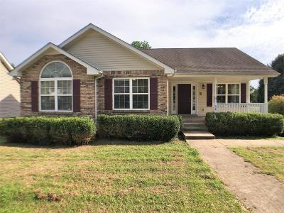 Clarksville Single Family Home Under Contract - Showing: 589 Rosewood Dr