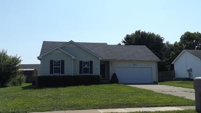 Clarksville TN Single Family Home Under Contract - Not Showing: $125,500