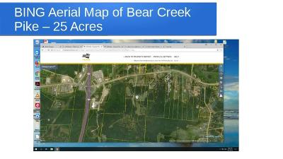 Columbia Residential Lots & Land For Sale: Bear Creek Pike - 25 Acres