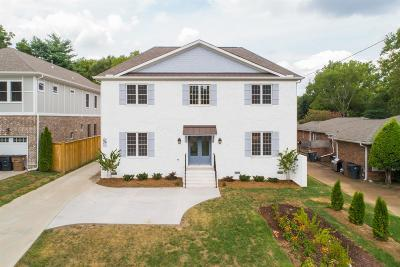 Nashville Single Family Home For Sale: 1000 A Woodmont Blvd