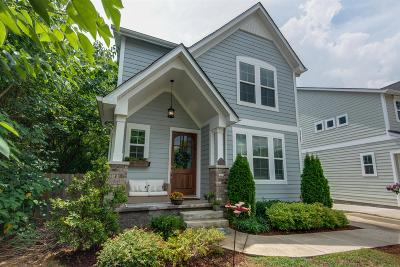 Nashville Single Family Home For Sale: 1424 B Electric Ave