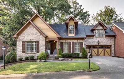 Nashville Single Family Home For Sale: 131 b Woodmont Blvd