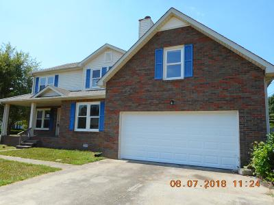 Christian County, Ky, Todd County, Ky, Montgomery County Single Family Home For Sale: 912 Tudor Ln