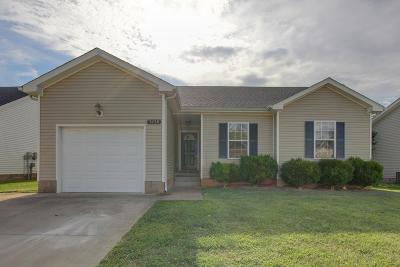 Clarksville Single Family Home Under Contract - Showing: 3438 Foxrun Ln